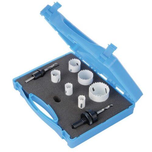 9-delige loodgieters bimetalen gatenzaag set 18 - 51 mm