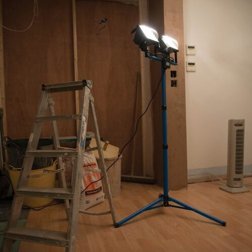 dubbele bouwlamp 500w
