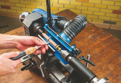 Stofafzuigsysteem voor draaiwerk machines