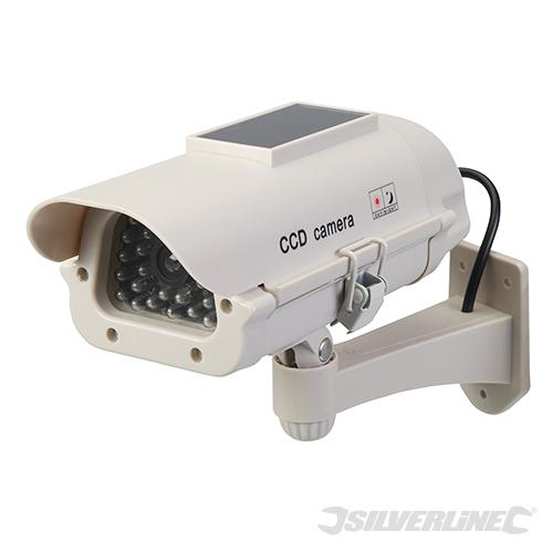 Zonnepaneel aangedreven dummy CCTV beveiligingscamera met LED