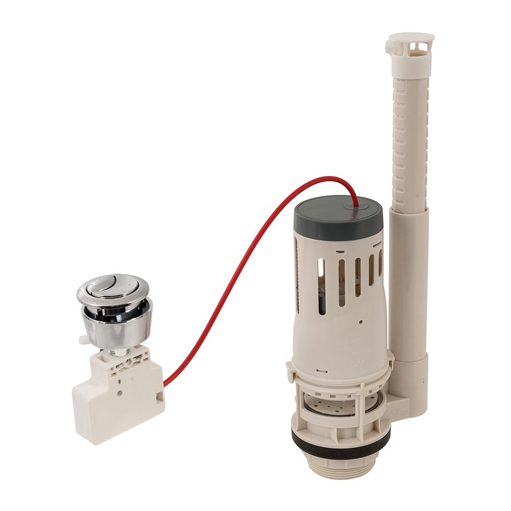 Verstelbaar toiletspoelventiel met drukknop