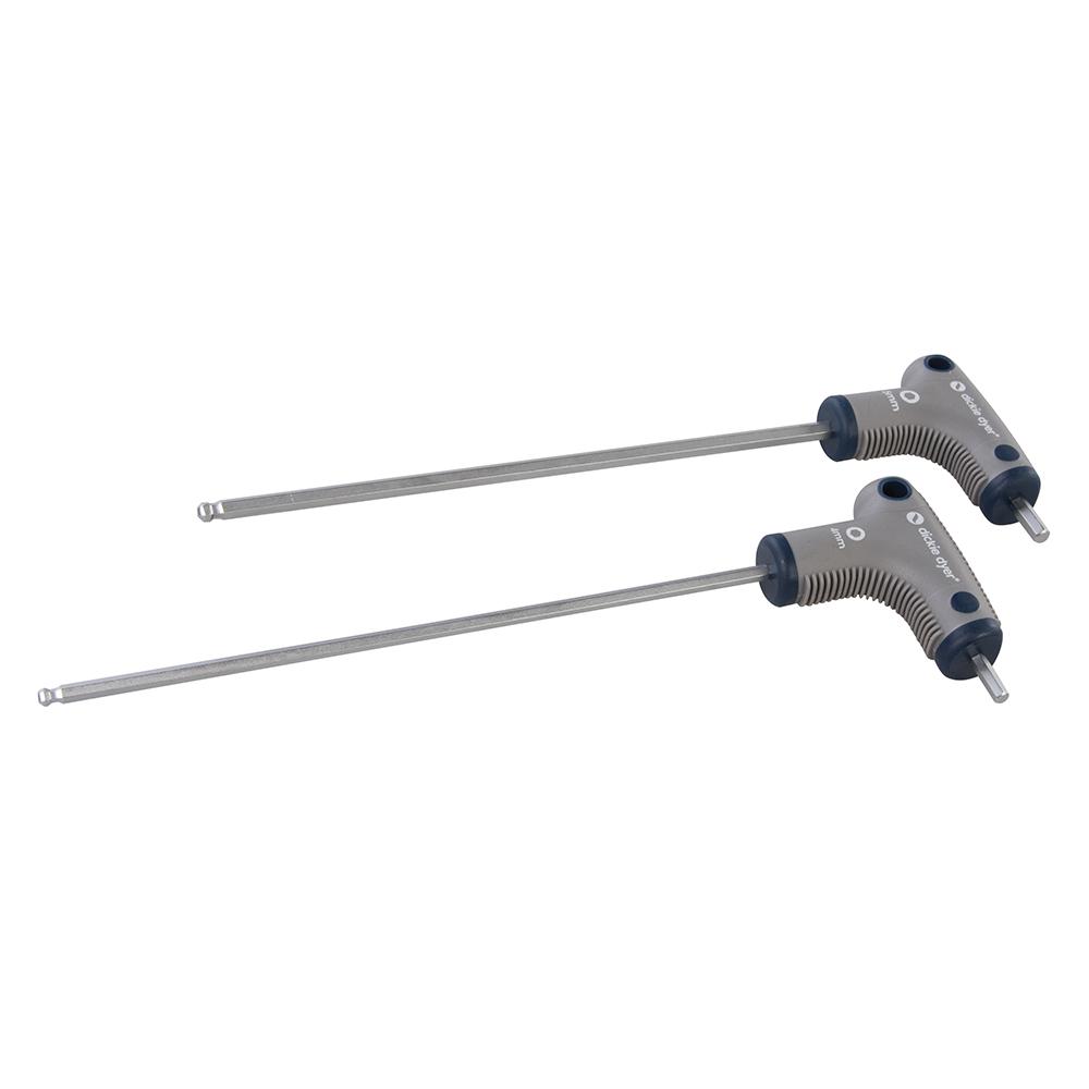 2-delige set sleutels verwijderen T-pompkop