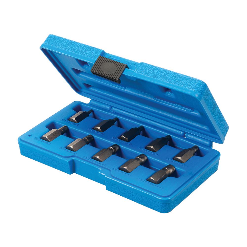 Hoog-koppel multi-spline schroefextractorset, 10-delig