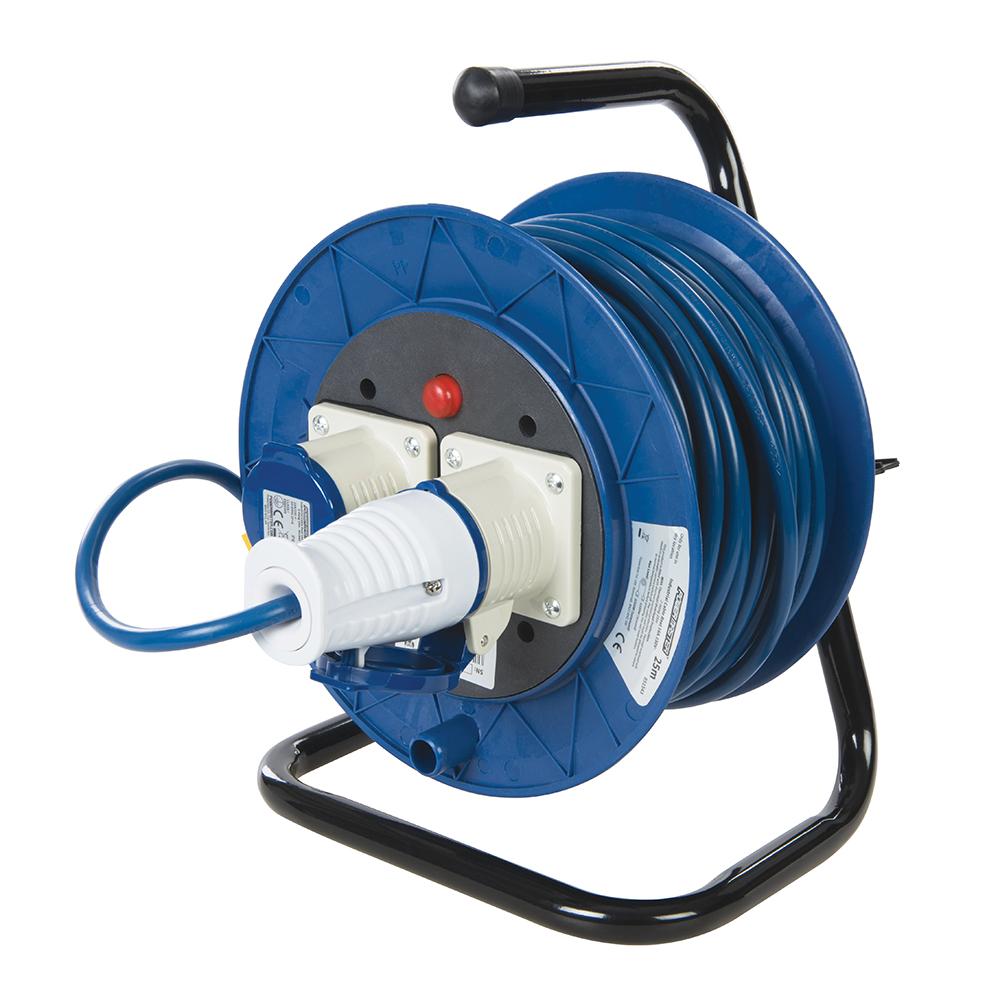 Vrijstaande industriële kabelhaspel, 16 A 230 V