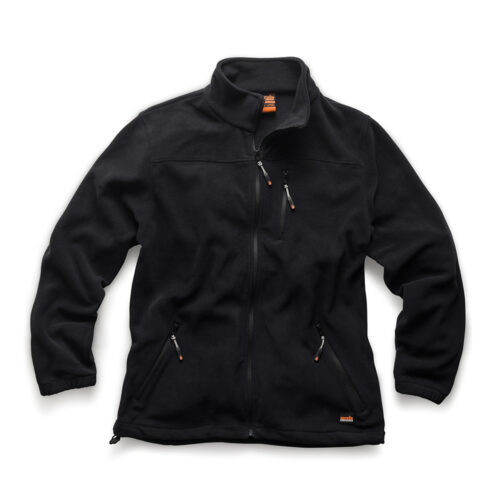 'Worker' waterbestendige fleece, zwart