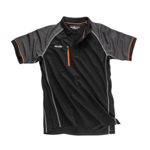 """Active"" Poloshirt, zwart"
