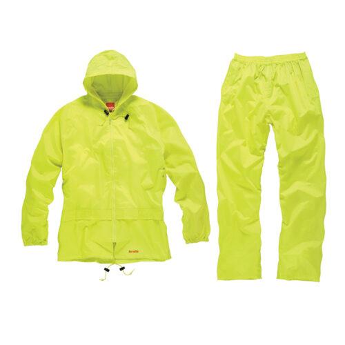 Regenpak, geel, 2-delig