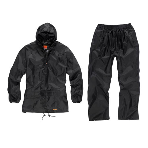 Waterdicht pak, zwart, 2-delig