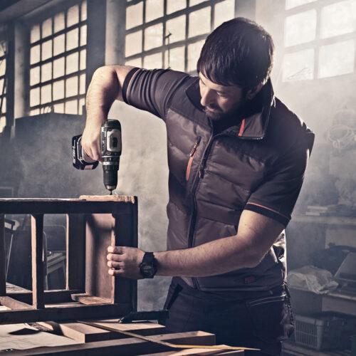 Worker Bodywarmer, donker grijs