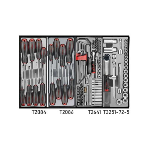 Black 8-drawer trolley with 219pc tools