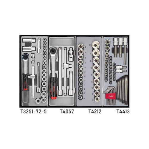 Red 8-drawer trolley with 245pc tools