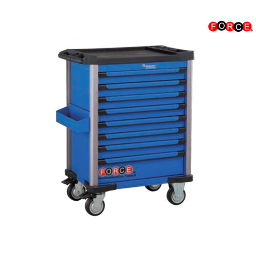 Blue 8-drawer trolley with 215pc tools (EVA)