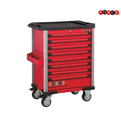 Red 8-drawer trolley with 208pc tools S&M (EVA)