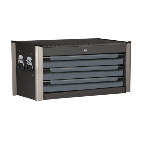 Jumbo black 3-drawer tool box