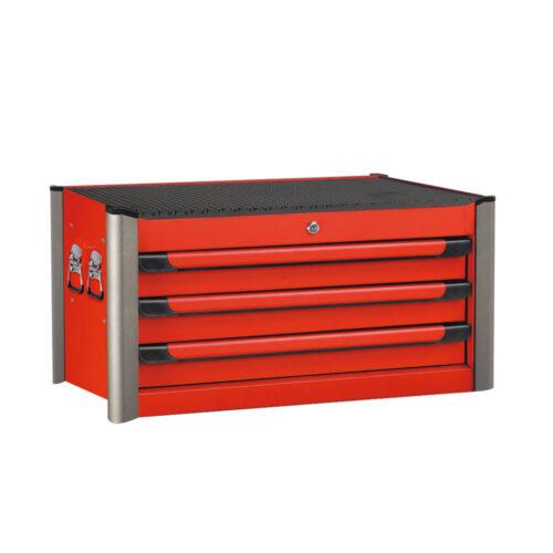Jumbo red 3-drawer tool box