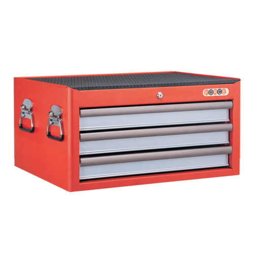 3-drawer red tool box