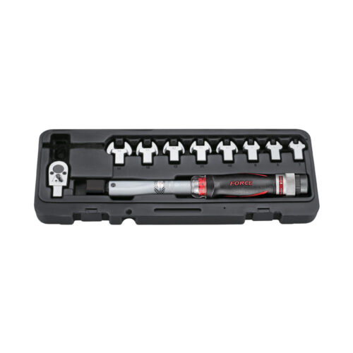 11pc Head-interchageable torque wrench & spanner set