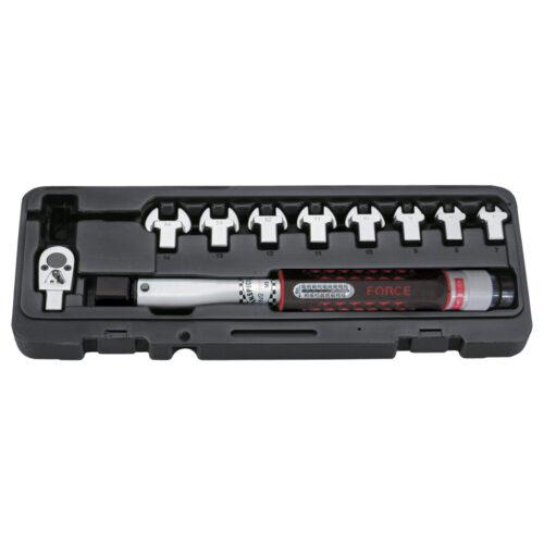 13pc Head-interchageable torque wrench & spanner set