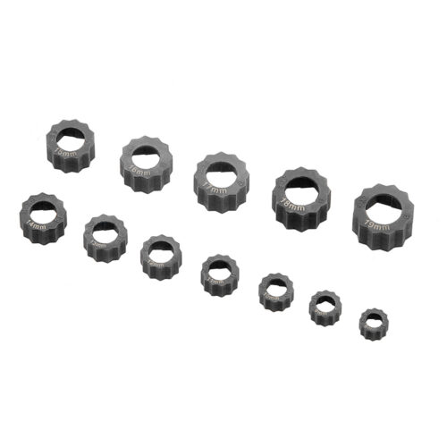 12pc Damaged-nut/bolt extractor set