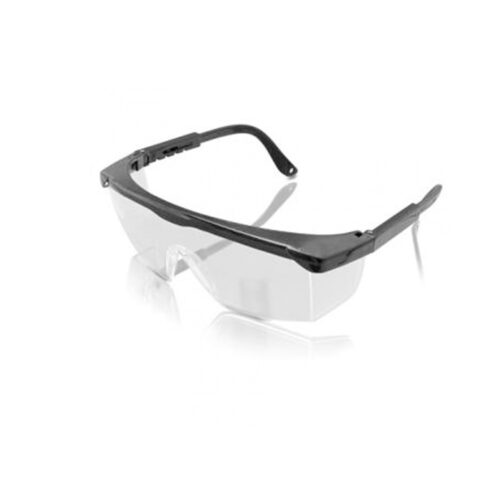 Temple safety goggle