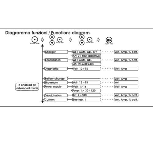 Professionele accustabilisator met laadfunctie en microprocessor 2000W