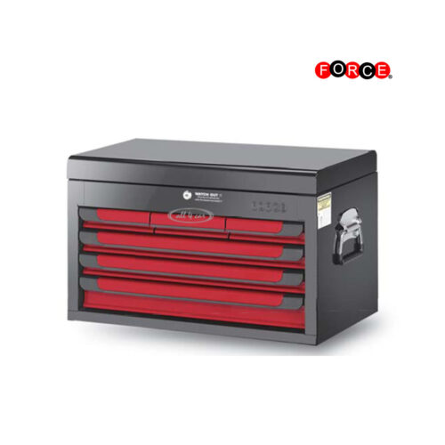 Glory red & black 6-drawer top chest