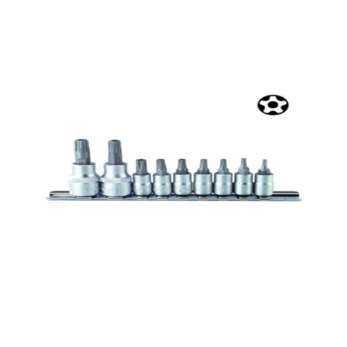 "9pc 1/4"" & 3/8"" Five-sided star tamper socket bit"