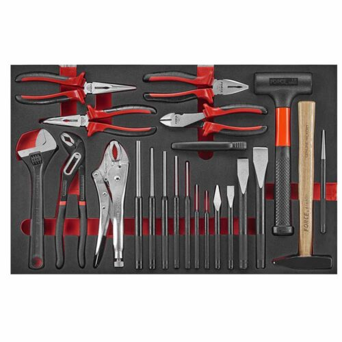 22pc Pliers and hammer chisel set (EVA)