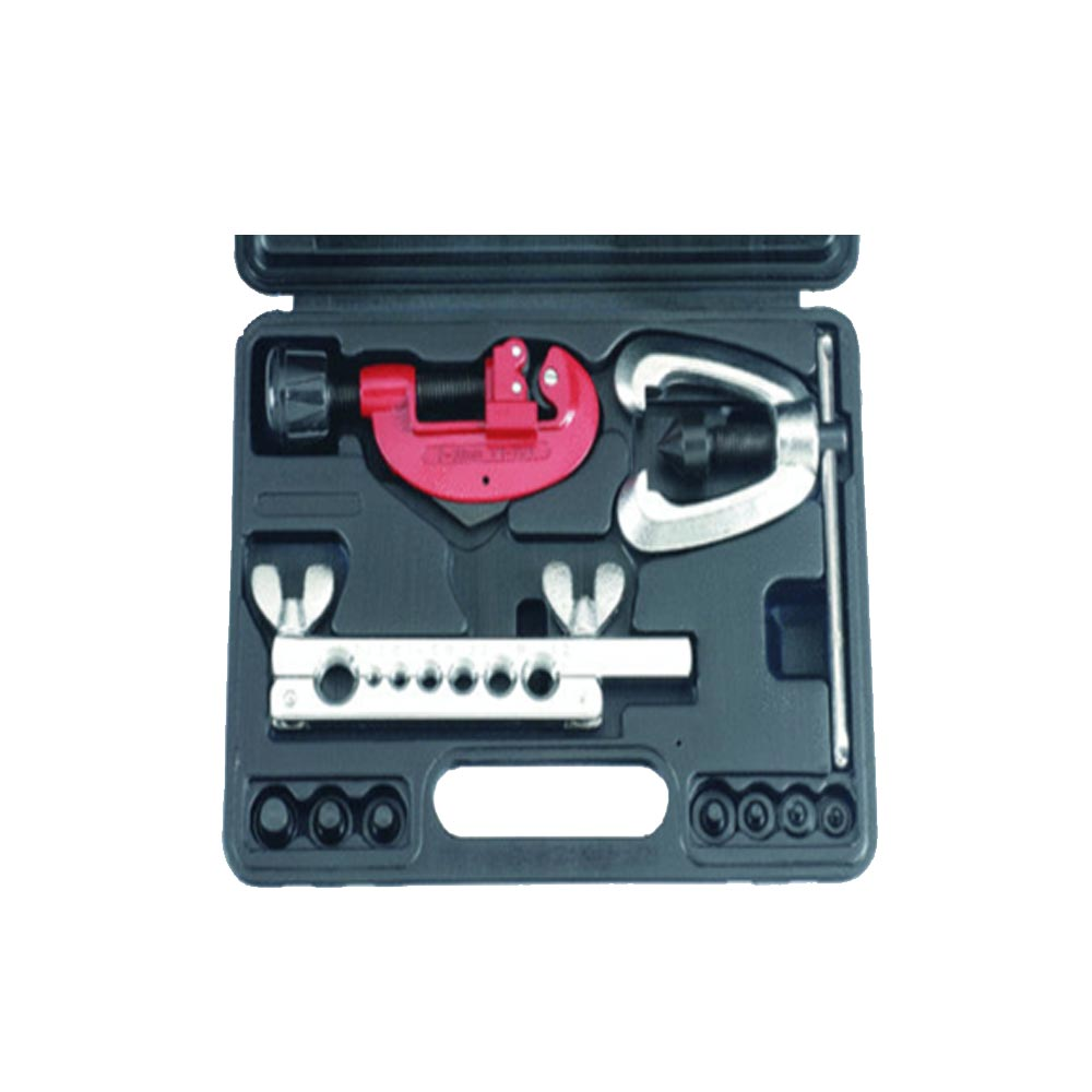 Tubing cutter and double flaring tool kit (SAE)